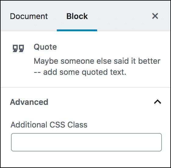 Add custom css class, Gutendev,