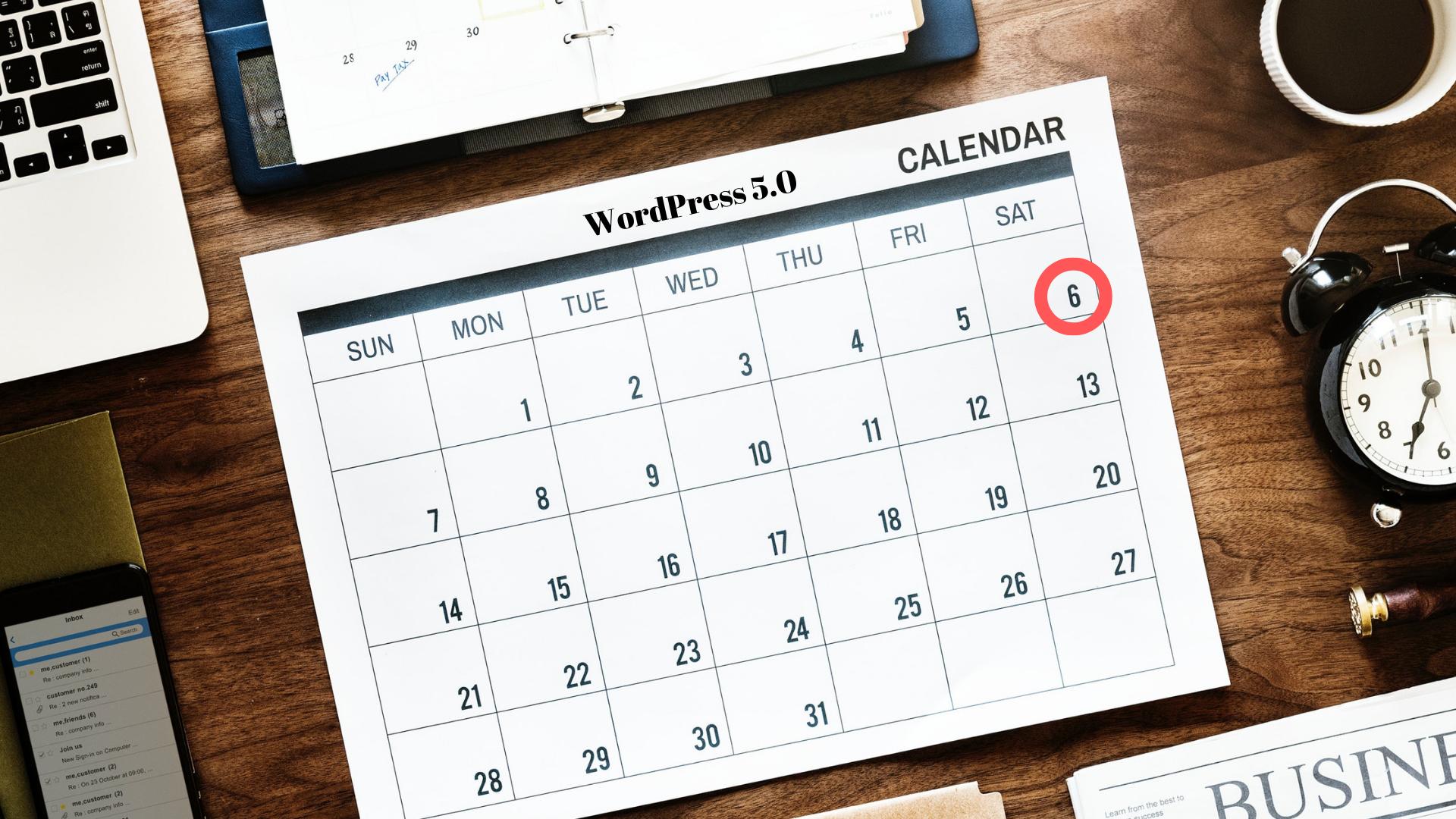 WordPress 5.0 Release Date