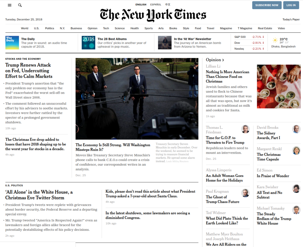 The new york times | Gutendev | WordPress websites with Gutendev | New WordPress | WordPress Tutorials | Plugins WordPress