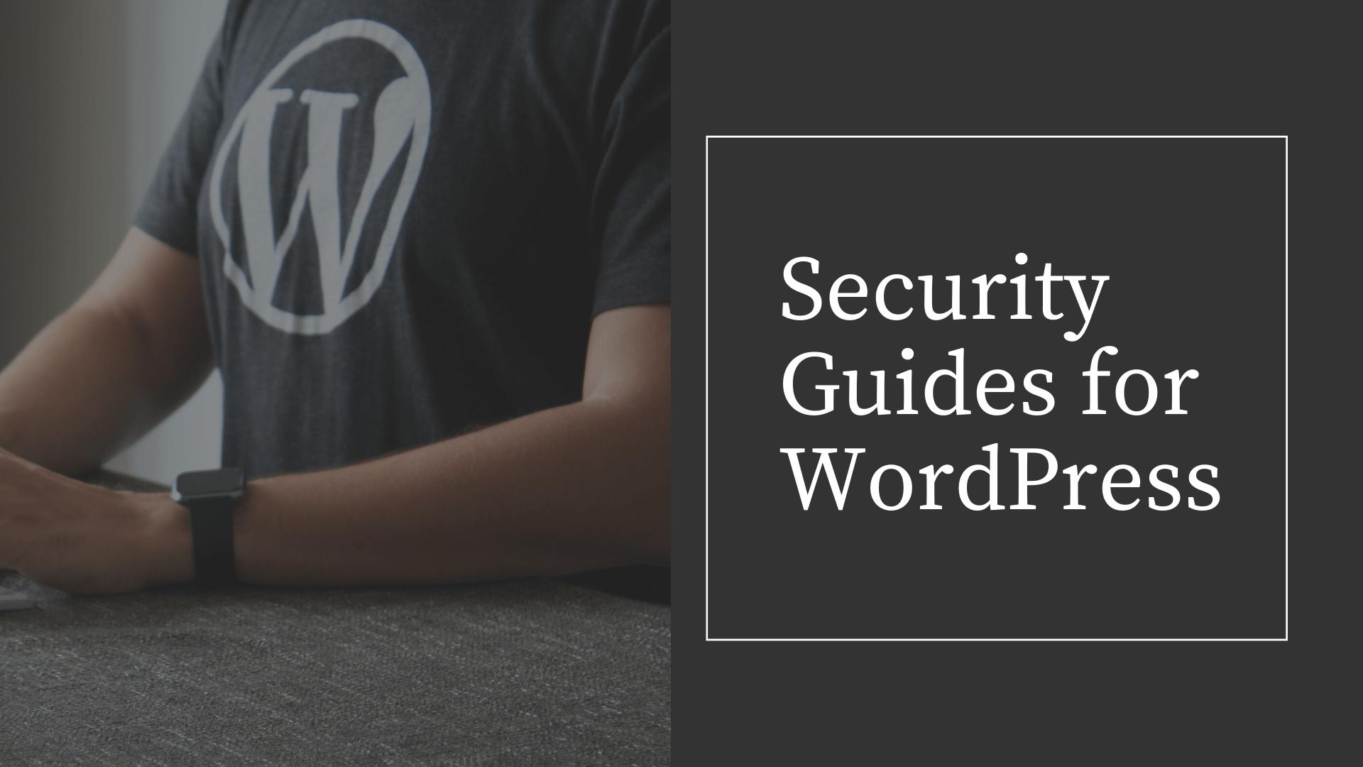 best security tips for WordPress