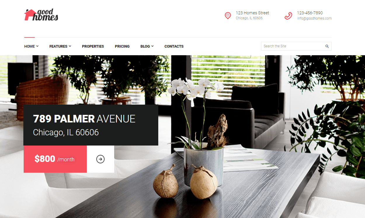 Good Homes- Real Estate WordPress Theme