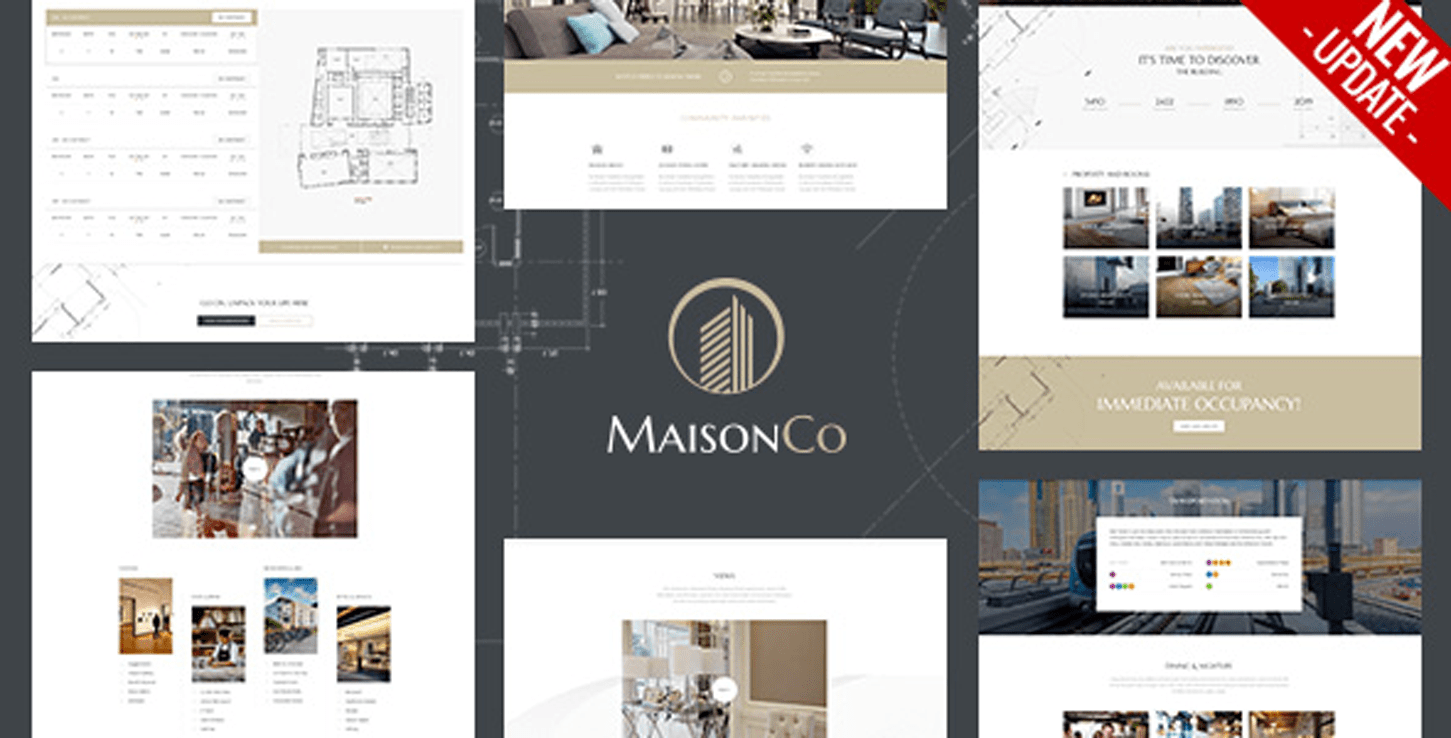 MaisonCo- Single Property WordPress Website Theme