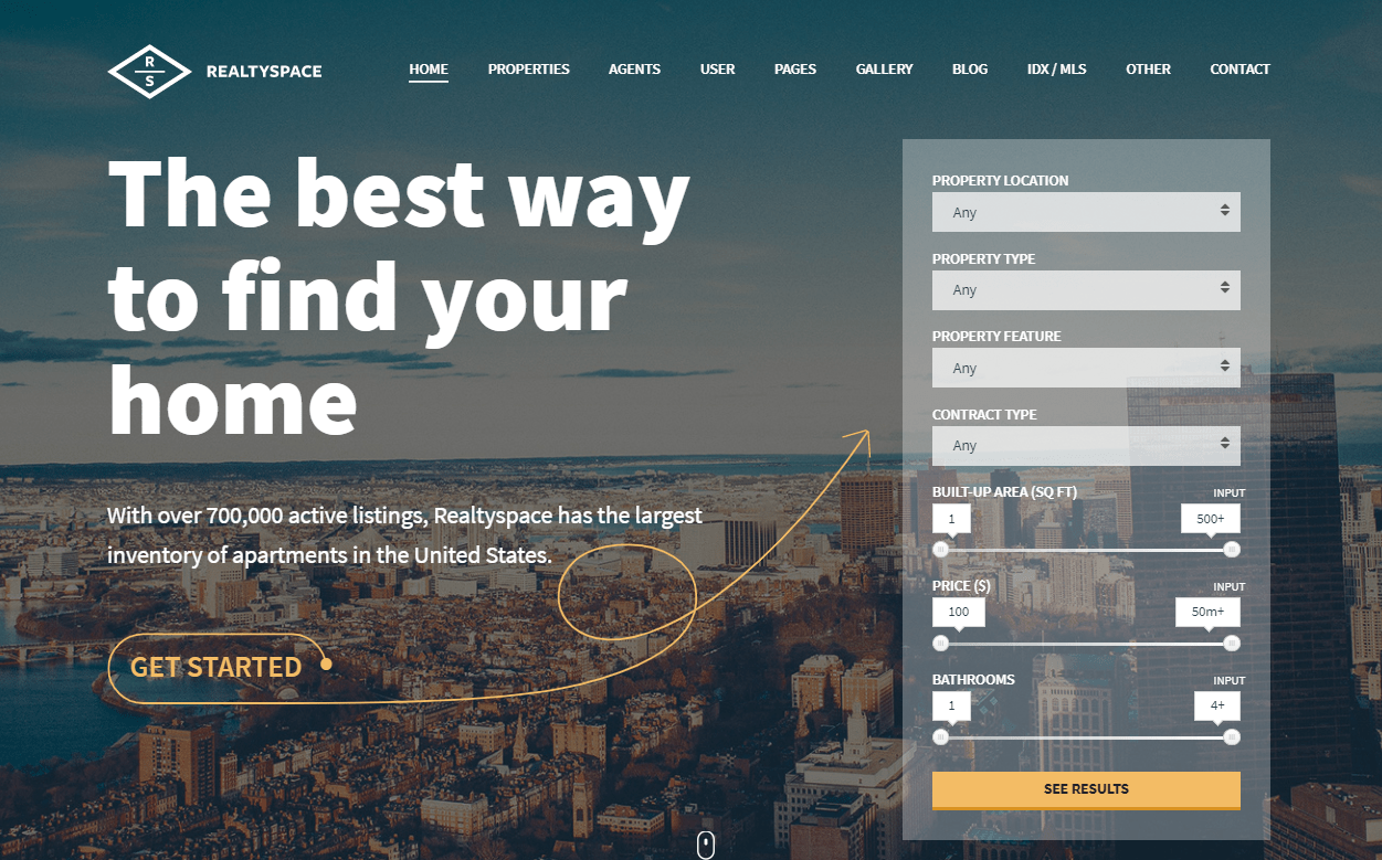 Realityspace- Real Estate WordPress Theme