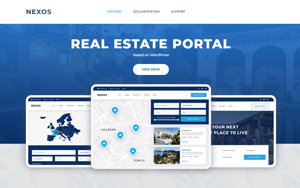 Nexos- Real Estate WordPress Theme